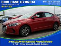 2017 Hyundai Elantra SE  in Scarlet Red and 20 year or