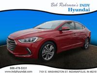 2017 Hyundai Elantra Limited Red WITH SOME AVAILABLE