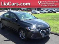 2017 Hyundai Elantra in Black Diamond, 1 Owner!,