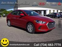 Red Pearl 2017 Hyundai Elantra FWD 6-Speed 2.0L