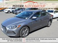 6-Speed Automatic Clean CARFAX. Gray 2017 Hyundai