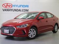 Recent Arrival! New Price! 2017 Hyundai Elantra SE
