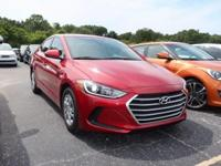 Clean CARFAX. Certified. Scarlet Red 2017 Hyundai