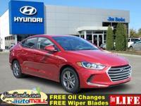 -Great Gas Mileage- This 2017 Hyundai Elantra SE is