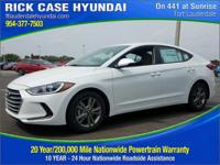 2017 Hyundai Elantra SE  in White Pearl. You'll NEVER