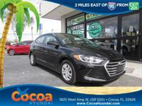 This 2017 Hyundai Elantra SE in Black features: Clean
