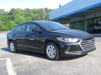 Clean CARFAX. Phantom Black 2017 4D Sedan Hyundai