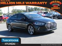 Phantom Black 2017 Hyundai Elantra Limited FWD 6-Speed