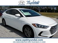 2017 Hyundai Elantra SE White 38/29 Highway/City