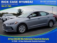 2017 Hyundai Elantra SE  in Shale and 20 year or