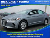 2017 Hyundai Elantra SE  in Gray and 20 year or 200,000