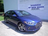 Lakeside Blue 2017 Hyundai Elantra Limited FWD 6-Speed