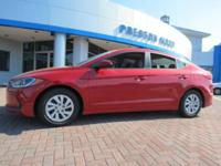 2017 Hyundai Elantra FWD Red 6-Speed 2.0L 4-Cylinder