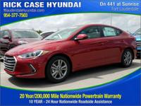 2017 Hyundai Elantra Value Edition  in Red and 20 year