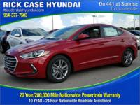 2017 Hyundai Elantra Value Edition  in Scarlet Red and