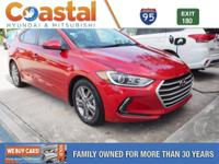 This 2017 Hyundai Elantra Value Edition in Scarlet Red
