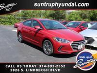 New Price! Scarlet Red 2017 Hyundai Elantra Value