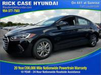 2017 Hyundai Elantra Value Edition  in Black and 20
