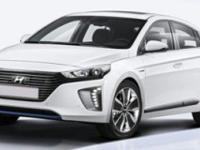 2017 Hyundai Ioniq Hybrid Blue  in Black Pearl and 20