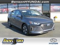 Ioniq Hybrid Blue, Summit White, and Black. This one