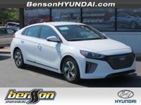Ioniq Hybrid SEL, 4D Hatchback, Ceramic White, and