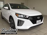 2017 Hyundai Ioniq Hybrid in White, AUX CONNECTION,