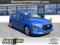 Ioniq Hybrid Blue, Electric, and Black. Don't wait