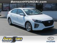 Ioniq Hybrid Limited, 4D Hatchback, Ceramic White, and