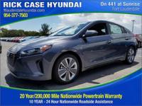 2017 Hyundai Ioniq Hybrid Limited  in Summit White and