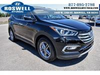 2017 Hyundai Santa Fe Sport. Jet Black! All the right