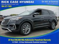 2017 Hyundai Santa Fe Limited  in Black. Seats are