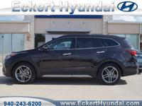 2017 Santa Fe Limited Ultimate AWD  6 passenger SUV,