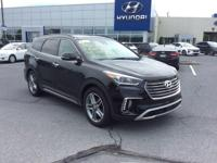 2017 Hyundai Santa Fe Limited AWD, Black Leather.