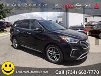 Black 2017 Hyundai Santa Fe AWD 6-Speed Automatic with