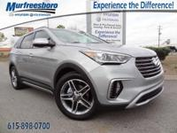 2017 White Hyundai Santa Fe Limited Ultimate 6-Speed