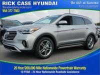 2017 Hyundai Santa Fe Limited Ultimate  in Frost.
