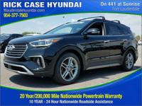 2017 Hyundai Santa Fe Limited Ultimate  in Black and 20