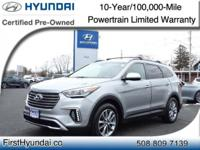 HYUNDAI CERTIFIED - AWD-LEATHER - One Owner Santa Fe