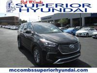 Safe and reliable, this Used 2017 Hyundai Santa Fe SE