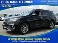 2017 Hyundai Santa Fe SE  in Black and 20 year or