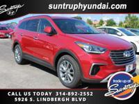New Price! Red Pearl 2017 Hyundai Santa Fe SE AWD