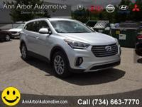 Silver 2017 Hyundai Santa Fe AWD 6-Speed Automatic with