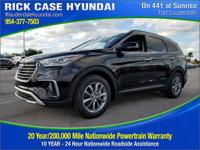 2017 Hyundai Santa Fe SE  in Black and 20 year or