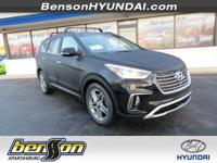 Santa Fe SE Ultimate, FWD, and Black. Brings new