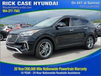 2017 Hyundai Santa Fe SE Ultimate  in Black and 20 year