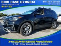 2017 Hyundai Santa Fe SE Ultimate  in Black and 20 year