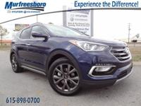 2017 Blue Hyundai Santa Fe Sport 2.0L Turbo 6-Speed