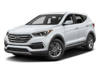 Options:  2017 Hyundai Santa Fe Sport 2.4L|Black/|V4
