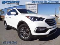 2017 White Hyundai Santa Fe Sport 2.4 Base 6-Speed