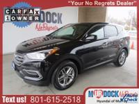 Black 2017 Hyundai Santa Fe Sport 2.4 Base AWD 6-Speed